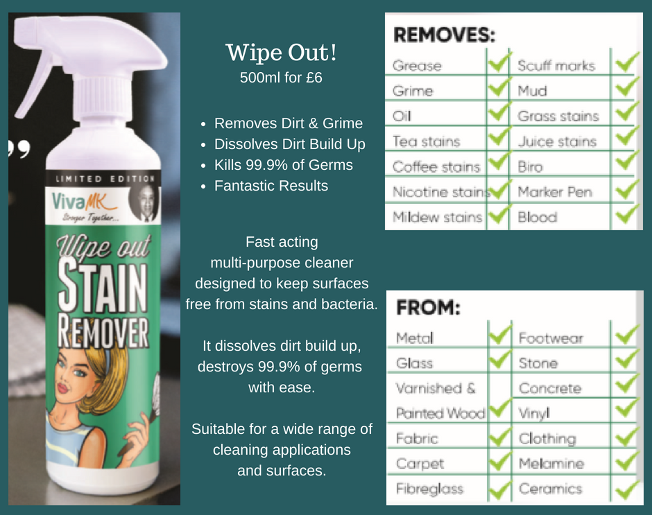 Wipeout Stain Remover - Simply The Best | VivaMK Product
